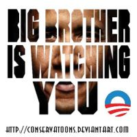 Big Obama is Watching You by RedTusker