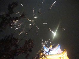 Wedding fireworks 1 by Laura-in-china