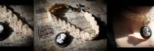 Phoenix Forge SteamWorks Cameo Choker by MarionettePhoto