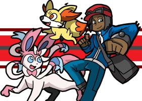 Pokemon team Y by ObsidianWolf7