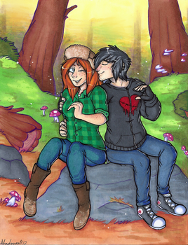 Pine Trees and Zombie Kisses by GreenDorito