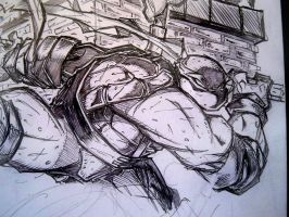 Morning Sketch - TMNT WIP 05 by RobDuenas