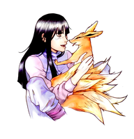 Hinata and her 'pet' by nami64