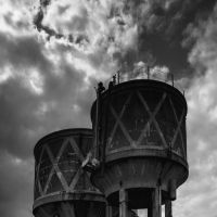 Old water towers by Swamp-talker