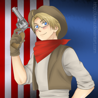 - Cowboy Alfred - Gift for ExclusivelyHetalia by uvina