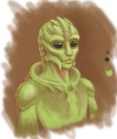 ME - Turian-Drell hybrid by merrypaws