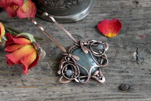 Copper pin for hair by Schepotkina