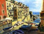 Riomaggiore Italy Late Afternoon by RandySprout