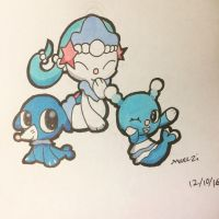 Popplio Brionne and Primarina  by 0Marazi0
