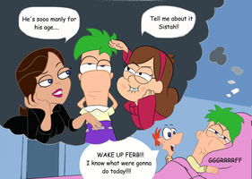 Mornin Ferb by toongrowner