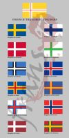 Nordic Union... kingdom flags by frans97