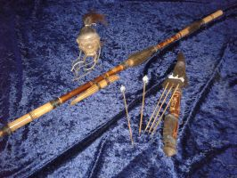 Bolivian Blowpipe with  quiver and arrows 3 by sid24