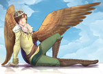 Winged Prince by adrianecarday