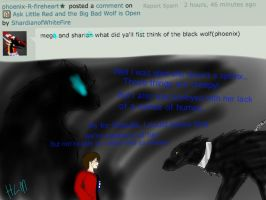 Ask Little Red and Wolf-Meeting the Chained Beast by ShardianofWhiteFire