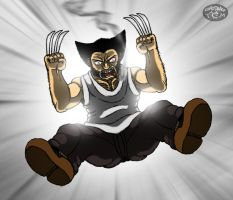 Wolverine Jumps On You... by Kaitoraikan