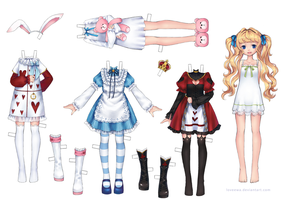 Paper Doll Alice by loveewa