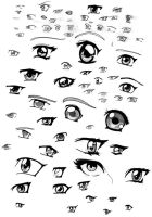 Anime eyes by Dk-ChIlI