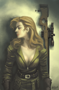 15 Days Video Game Characters - Sniper Wolf by DUCKAZOID