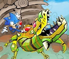 scrapped sonic by gsilverfish