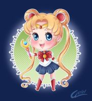 Chibi Sailor Moon by Akriel
