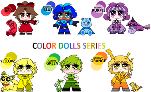 COLOR DOLL SERIES Adoptables by Mira3Lawlz