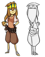 SA : Mushi : Adventure Outfit by M3xD