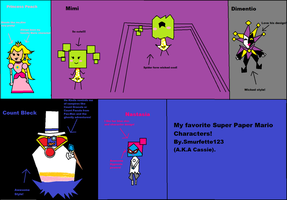 My Fav super paper Mario characters. by Smurfette123