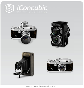 Classic Cameras PNG Version by iconcubic