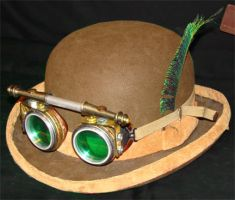 steampunk goggles on derby by brucethelesser