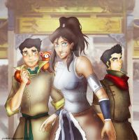 Legend of Korra trio of awesomeness (color) by DunaLonghorn