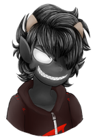 [Art Trade] Grimdark-au Karkat by DarkFoxProductions