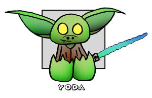 Lil' Plusher Yoda by 5chmee