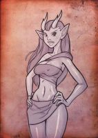CCD - horny elf for Sawblade by mastermead