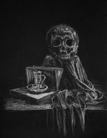 Still Life with the Skull by mary-petroff