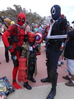 Deadpool, Hellboy and Agent Venom by pa68