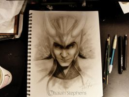 Loki Sketch by IsaiahStephens