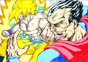Son Goku VS Superman by ssjgogeto