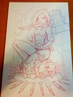 Commish 109 WIP 03 by RobDuenas
