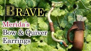 Merida's Bow and Quiver Earrings Tutorial by NerdEcrafter