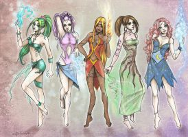 Elemental Fairies by CristianaLeone