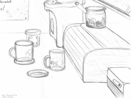 Perspective with Cups by tynafish