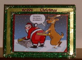 Houston We Have A Problem Xmas Card by blackrose1959