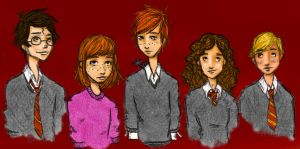 The Kids - colored by AdeL7e