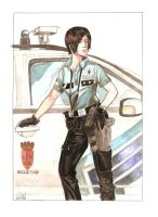 female cop by yacermino