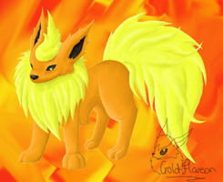 Different style Flareon by GoldFlareon