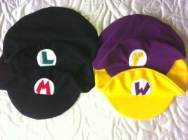 Mario Bros. Cap Collection 2 by twilight-ann