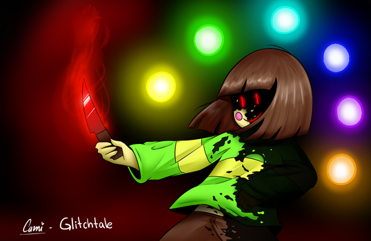 Glitchtale Chara! by CamilaAnims