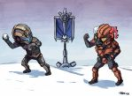 Tribes Ascend Snow Battle by Nerior