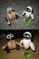 Wall-E and Eve. by CrowMaiden