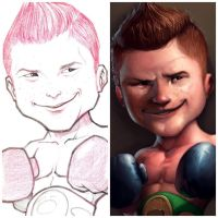 Canelo caricature by renecordova